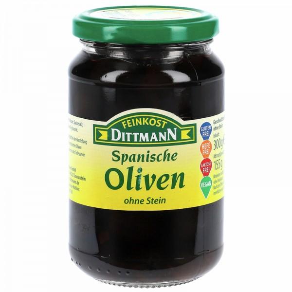 Dittmann Spanische Oliven schwarz ohne Stein 300g