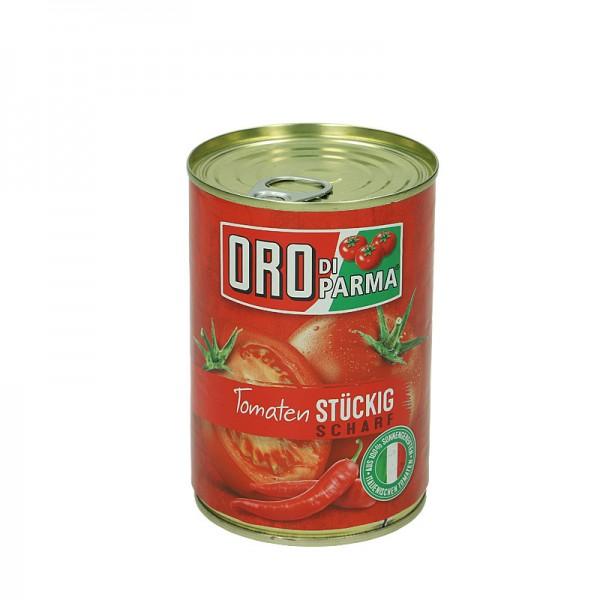 Oro di Parma Tomaten Stückig Scharf 425ml