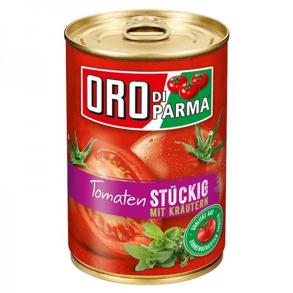 Oro di Parma Tomaten Stückig mit Kräutern 425 ml