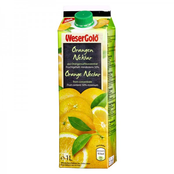 Weser Gold Orangen-Nektar 1L