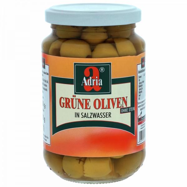 Adria Grüne Oliven in Salzwasser 370ml