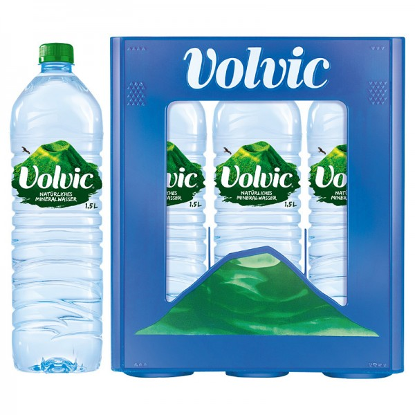 Volvic Mineralwasser, Kasten mit 6 x 1,5L PET Flaschen