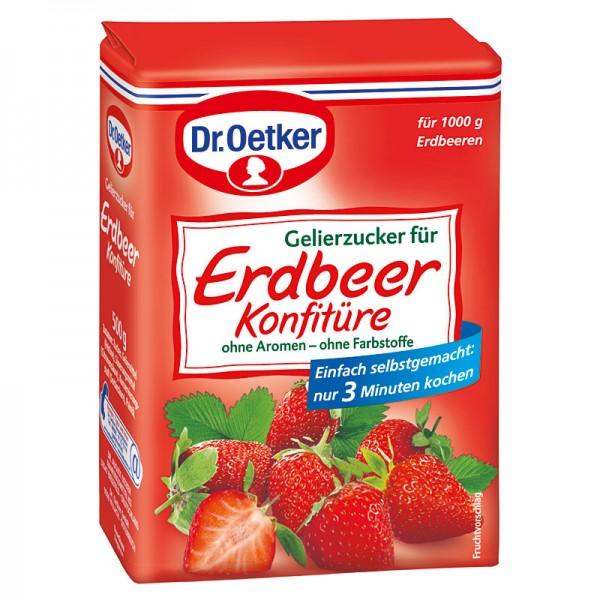 Dr. Oetker Gelierzucker für Erdbeerkonfitüre 500g