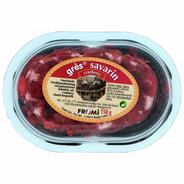 FROMI Grés Savarin Cranberry 72% Fett 150g