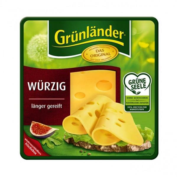 Grünländer Würzig Käse in Scheiben 130g