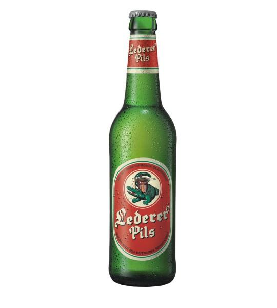 Lederer Premium Pils Bier als Einzelflasche 0,5l