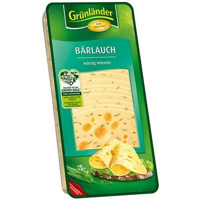 Grünländer Bärlauch Käse in Scheiben 48% 500g