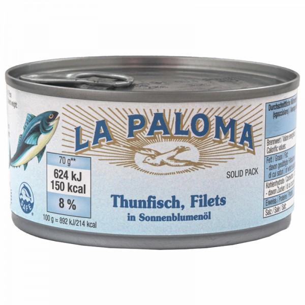 La Paloma Thunfischfilet in Öl 195g