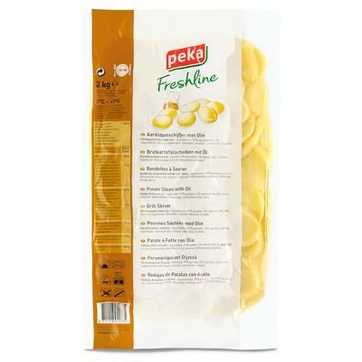 Peka Freshline Frische Bratkartoffel-Scheiben mit Öl 2kg