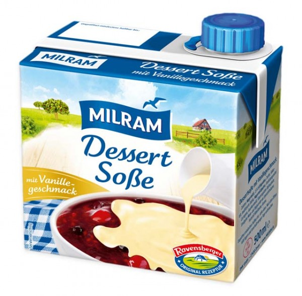 Milram Dessertsoße mit Vanillegeschmack 500ml