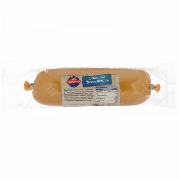Stockmeyer Delikatess Leberwurst fein 250g
