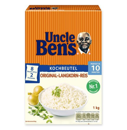 Uncle Ben's Spitzen Langkorn Reis im Kochbeutel 1kg