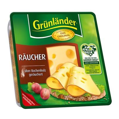 Grünländer Räucher Käse in Scheiben 48% 130g