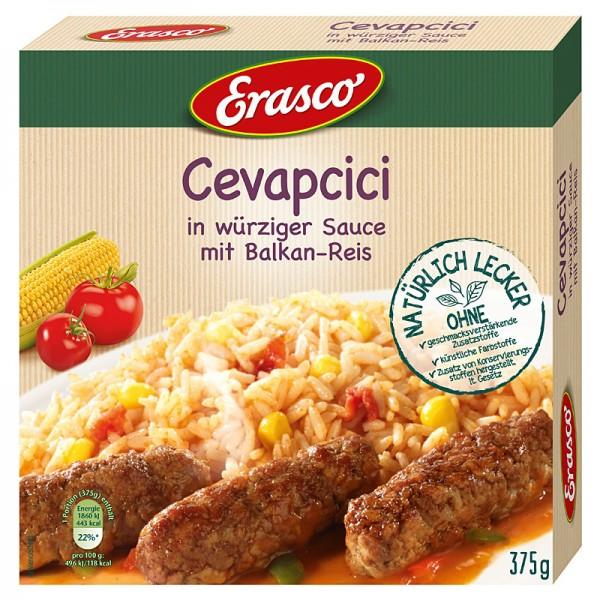 Erasco Hackfleischröllchen in würziger Sauce mit Balkan-Reis 375g