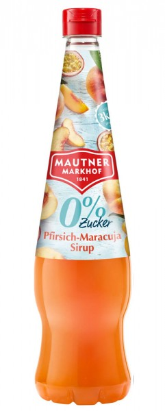Mautner Markhof Pfirsich Maracuja Sirup mit 0% Zucker Zusatz