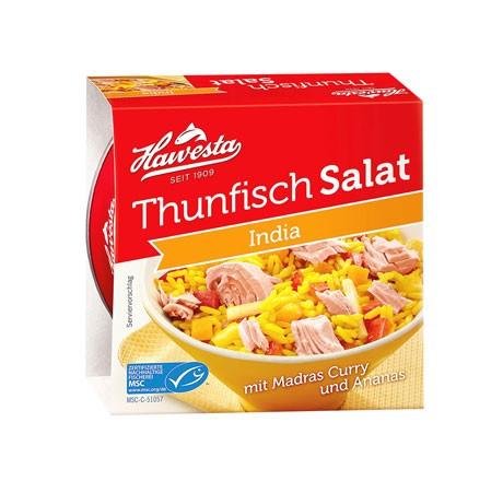 Hawesta Thunfisch Salat India, MSC-zertifiziert 160g