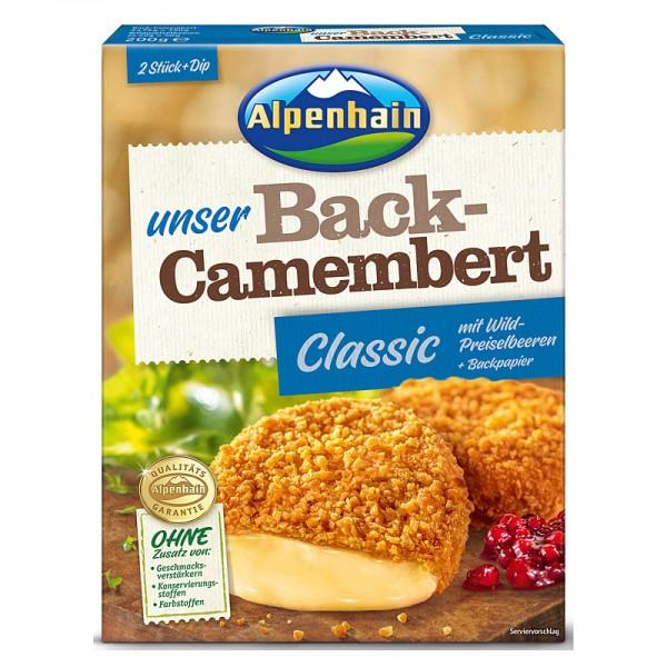 Alpenhain Unser Back-Camembert Classic, mit Wildpreiselbeeren + Backpapier 200g