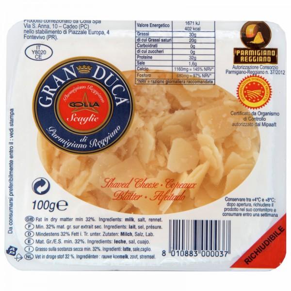 Gran Duca Parmigiano Reggiano Blätter 32% Fett i. Tr., 100g