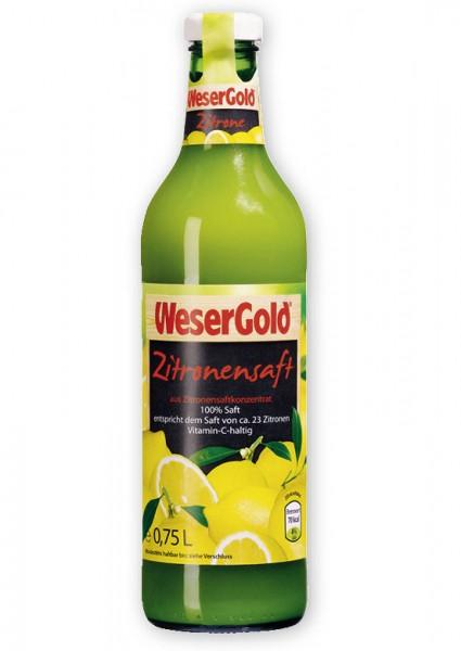 Weser Gold Zitronensaft 100% Saft 0,75L