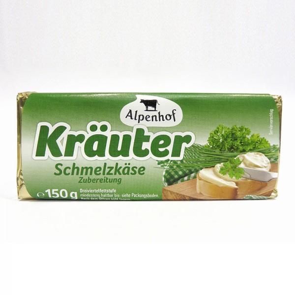 Schmelzkäsezubereitung Kräuter Blöckchen 150g