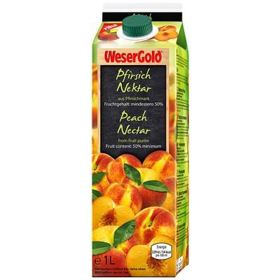 Weser Gold Pfirsichnektar 1L