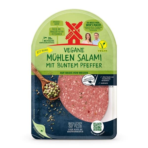 Rügenwalder Mühle Vegane Mühlen Salami mit buntem Pfeffer 80g