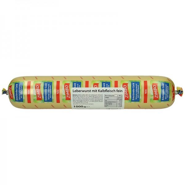 Zimbo Leberwurst mit Kalbfleisch fein 1kg