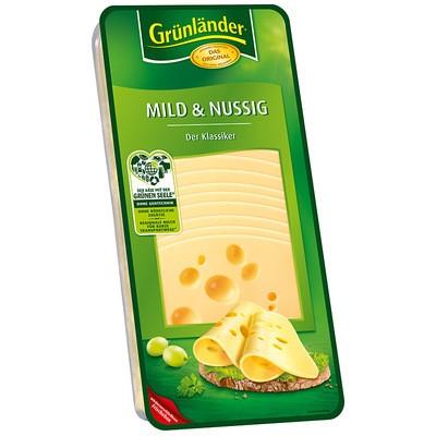 Grünländer Mild & Nussig Käse in Scheiben 48% 500g