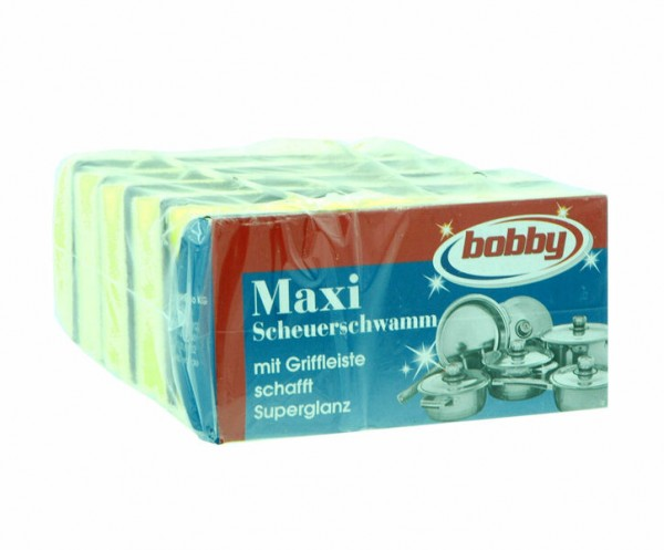 Bobby Maxi Scheuerschwamm mit Griffleiste 5St