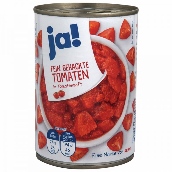 Fein Gehackte Tomaten in Tomatensaft, 425ml