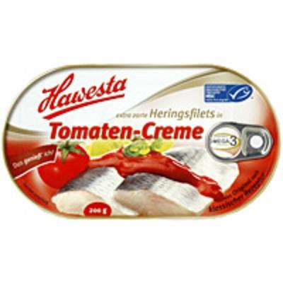 Hawesta Heringsfilet in Tomaten-Creme, MSC-zertifiziert 200g