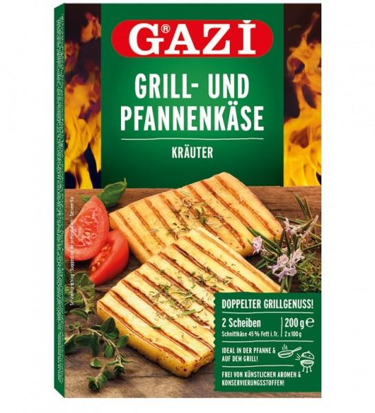 GAZI Grill- und Pfannenkäse Kräuter, 200g
