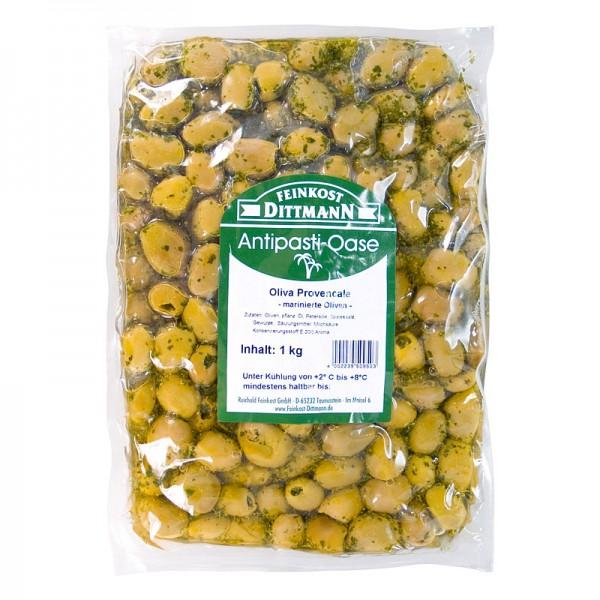 Dittmann Oliva Provencale Grüne Oliven mit Kräutern XL 1kg