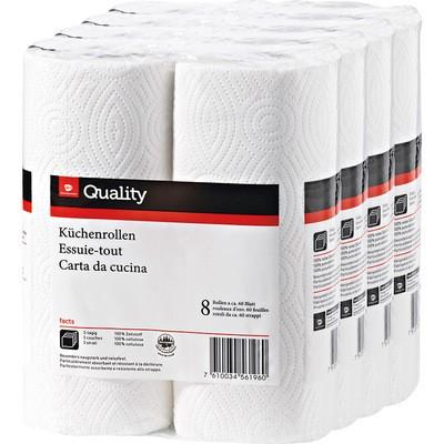 Küchenrolle Quality weiß 3-lagig 8x51 Blatt