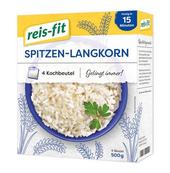 reis-fit Spitzen-Langkorn Reis im Kochbeutel, 15 Minuten, 4x125g