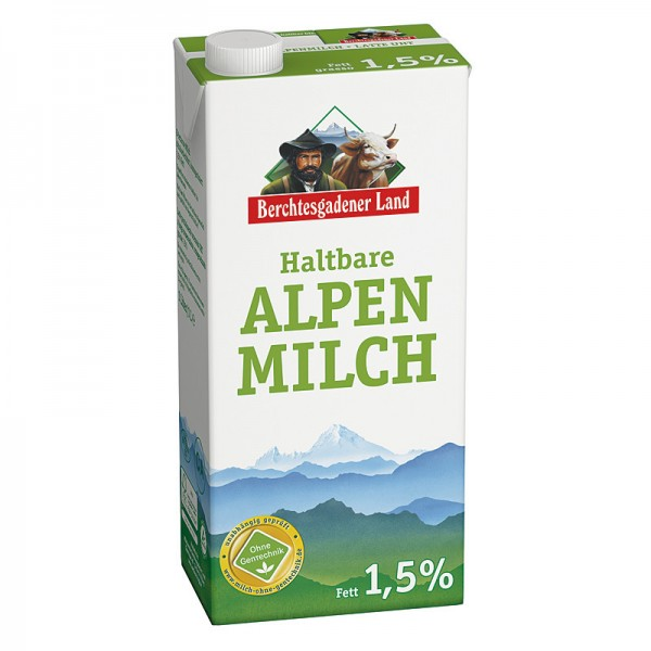 Berchtesgadener fettarme H-Milch 1,5%