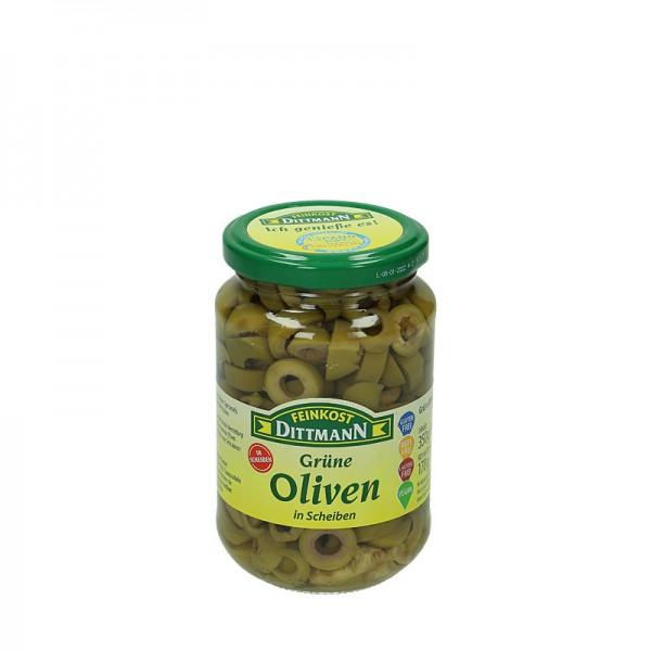 Dittmann Grüne Oliven in Scheiben 370ml