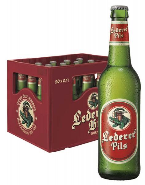 Lederer Premium Pils Bier 20x0,5l Flaschen