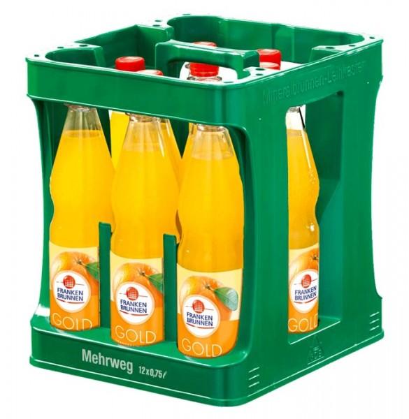 Franken Brunnen Gold Orangen Limonade, 12 x 0,75L PET