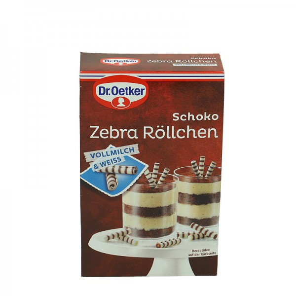Dr. Oetker Schoko Zebra Röllchen 75g