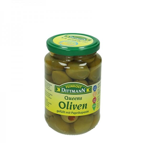 Dittmann Queens-Oliven gefüllt mit Paprikapaste 370ml