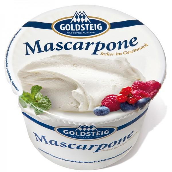 Goldsteig Mascarpone, Frischkäse 87% Fett 500g