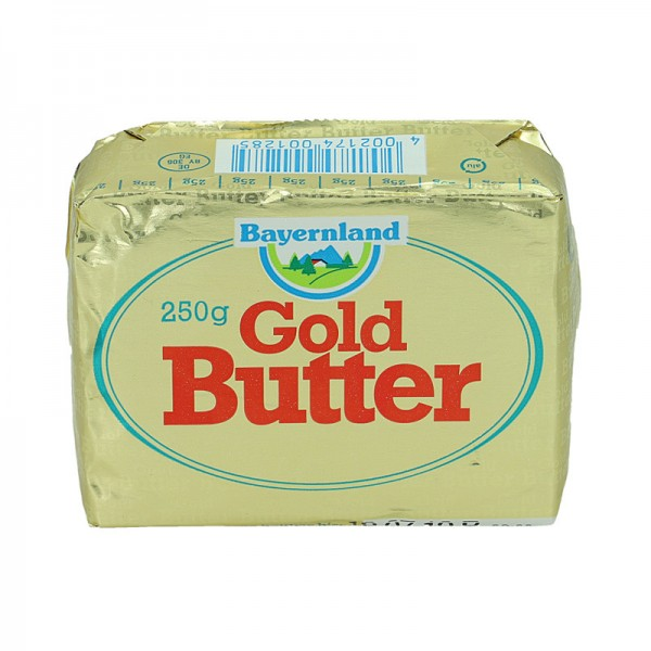 Bayernland Goldbutter Süßrahm 250g