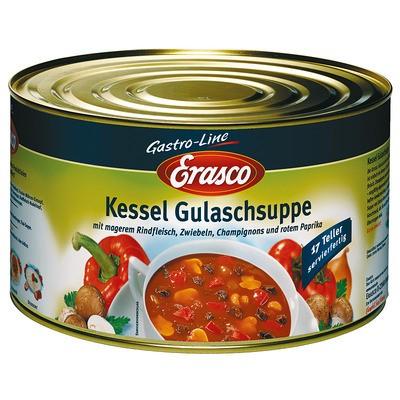 Erasco Kessel Gulaschsuppe Servierfertig, 17 Portionen, 4300ml