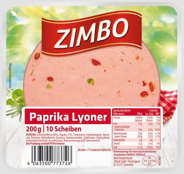 Zimbo Paprika-Lyoner 200g