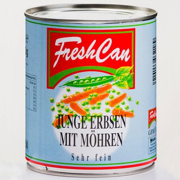 Freshcan Junge Erbsen sehr fein mit Möhren 850ml