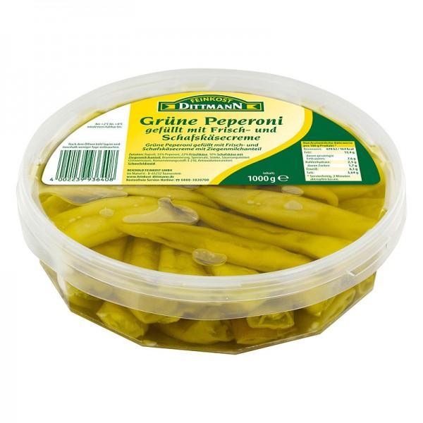 Dittmann Grüne Peperoni gefüllt mit Frisch- und Schafskäsecreme XL 1kg
