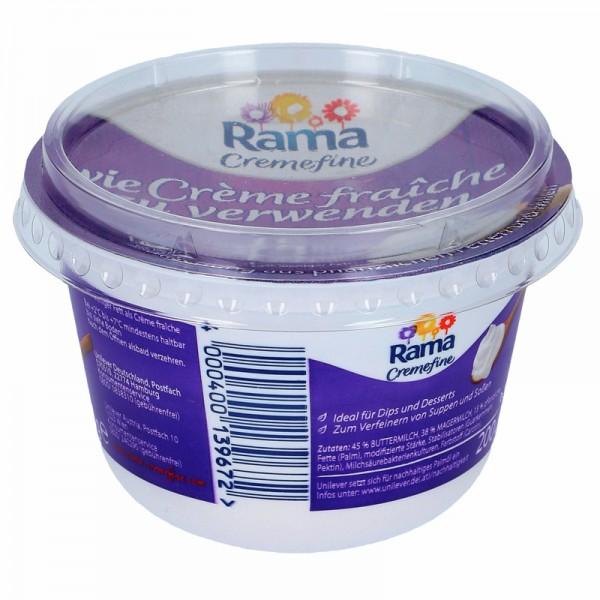 Rama Cremefine wie Crème fraîche zu verwenden 15% 200g
