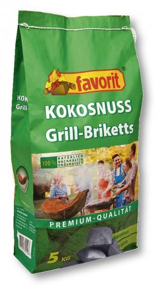 Favorit Kokosnuss Grill-Briketts XL 5kg