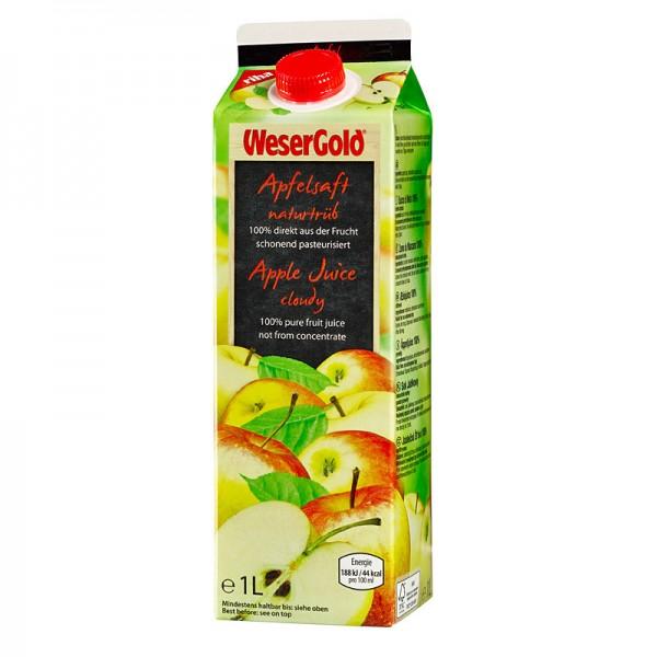 Weser Gold Apfel Direktsaft naturtrüb 1L